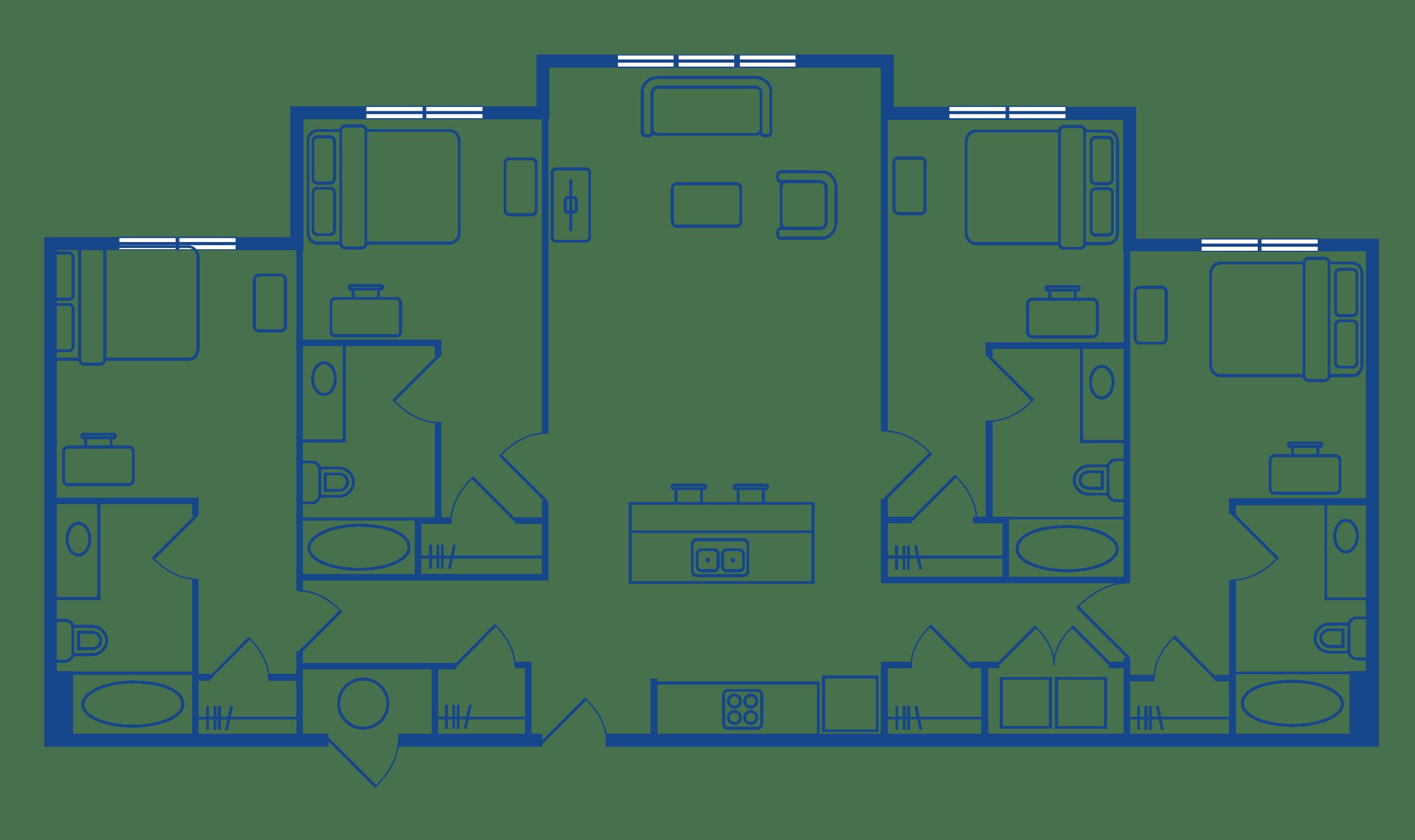 4 Bedroom 4 Bathroom Apartments Near UNC Campus